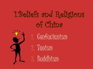 1.Beliefs and Religions of China