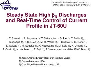 Steady State High  b N  Discharges and Real-Time Control of Current Profile in JT-60U