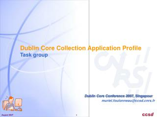 Dublin Core Collection Application Profile Task group
