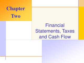 Financial Statements, Taxes and Cash Flow
