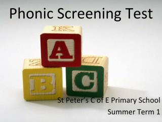 Phonic Screening Test
