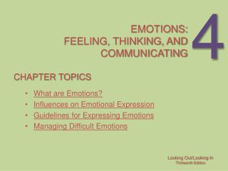 Emotions: Feeling, thinking, and communicating