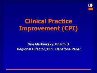 Clinical Practice Improvement (CPI)