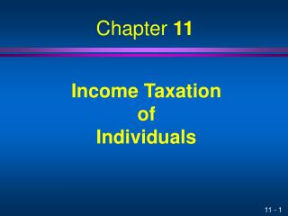 Income Taxation of Individuals