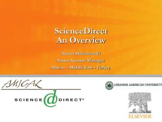 ScienceDirect An Overview