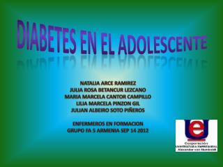 DIABETES EN EL ADOLESCENTE