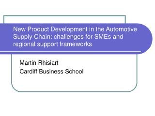 Martin Rhisiart Cardiff Business School