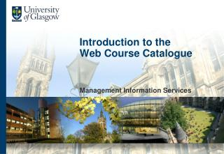 Introduction to the  Web Course Catalogue