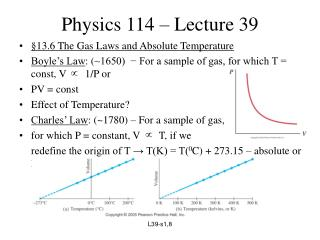 Physics 114 – Lecture 39