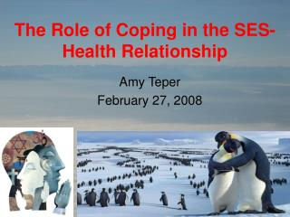The Role of Coping in the SES-Health Relationship