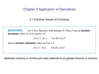 Chapter 3 Application of Derivatives