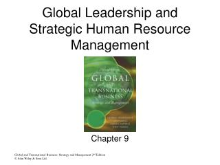 Global Leadership and Strategic Human Resource Management