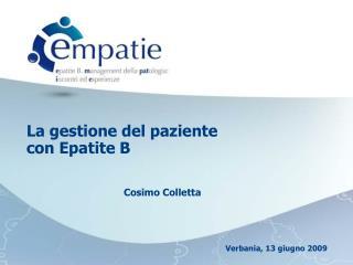 La gestione del paziente con Epatite B