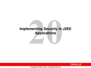 Implementing Security in J2EE Applications