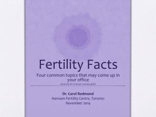 Fertility Facts
