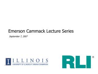Emerson Cammack Lecture Series