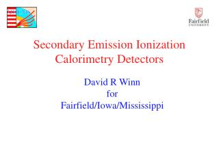 Secondary Emission Ionization Calorimetry Detectors