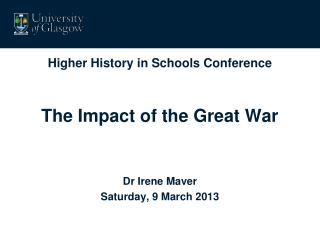 Higher History in Schools Conference