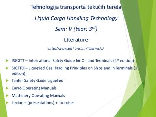 ISGOTT – International Safety Guide for Oil and Terminals (4 th  edition)