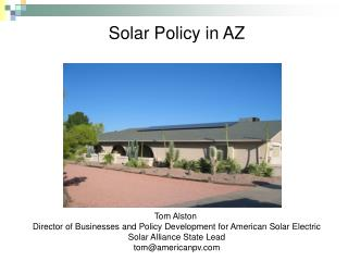 Solar Policy in AZ