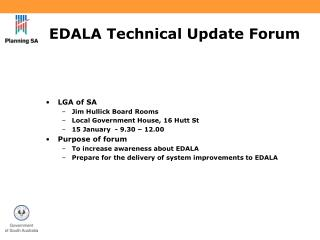 EDALA Technical Update Forum