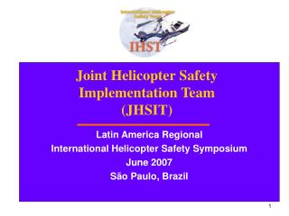Joint Helicopter Safety Implementation Team JHSIT