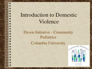 Introduction to Domestic Violence