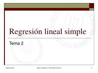 Regresión lineal simple