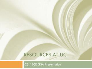 Resources AT UC