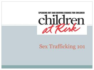 Sex Trafficking 101