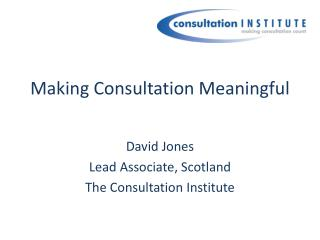 Making Consultation Meaningful