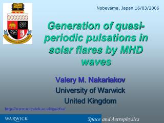 Generation of quasi-periodic pulsations in solar flares by MHD waves
