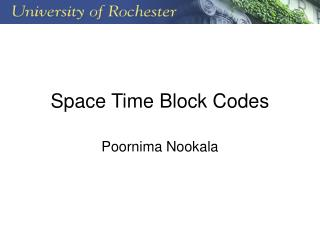 Space Time Block Codes