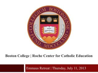 Boston College | Roche Center for Catholic Education