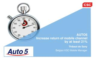 AUTO5 Increase return of mobile channel  by at least 21%