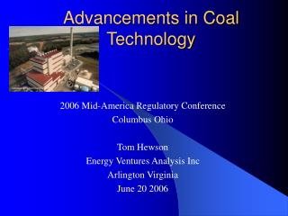 Advancements in Coal Technology