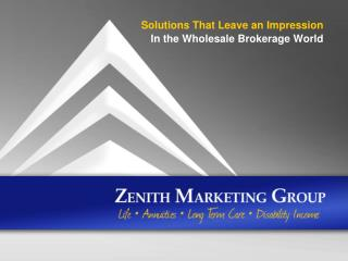 Solutions That Leave an Impression In the Wholesale Brokerage World