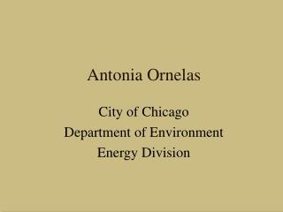 Antonia Ornelas