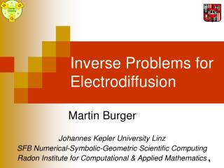 Inverse Problems for Electrodiffusion
