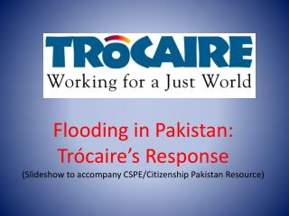 Flooding in Pakistan: Trócaire's Response