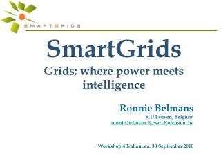 SmartGrids  Grids: where power meets intelligence