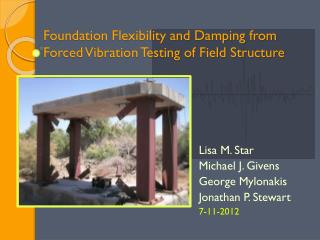 Foundation Flexibility and Damping from Forced Vibration Testing of Field Structure