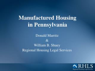 Manufactured Housing  in Pennsylvania