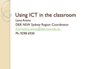 Using ICT in the classroom
