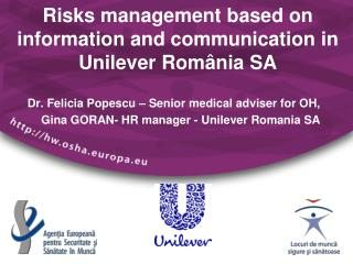 Risks management based on information and communication in  Unilever Rom â nia SA