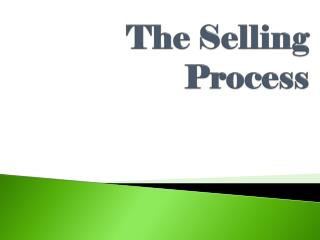 The Selling Process