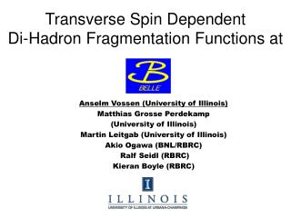 Transverse Spin Dependent Di-Hadron Fragmentation Functions at