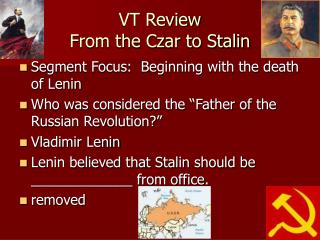 VT Review From the Czar to Stalin