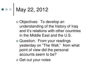 May 22, 2012