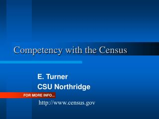 Competency with the Census